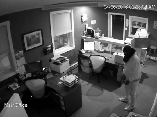 Police say these men robbed a business in Woolwich Township.