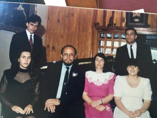 The Castrejon family in the early 1990s, several years