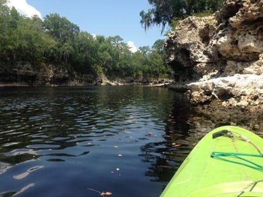 Kayaking on the Suwanee River.
