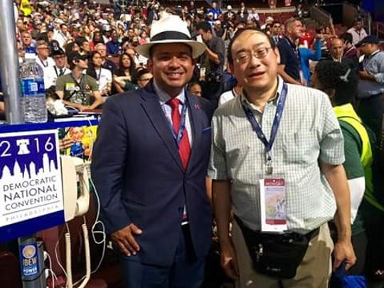 Left, Assemblyman Luis Alejo and right, Greenfield delegate David Kong
