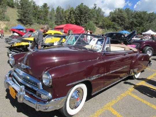 Some pretty nifty rides greeted visitors to the Aspenfest Rod and Run Car Show.