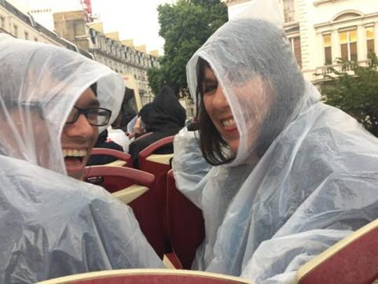 Not even the rain could thwart our excitement at being