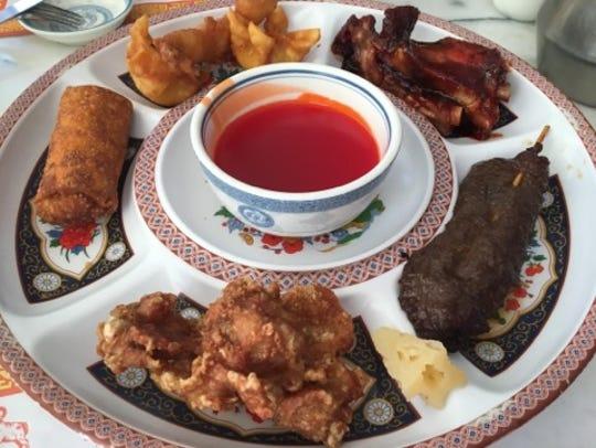 Peking Chinese Restaurant's pu pu platter had a large