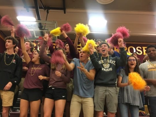 Salpointe Catholic fans celebrate during their team's