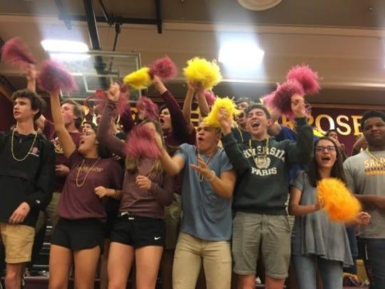Salpointe Catholic fans celebrate during their team's