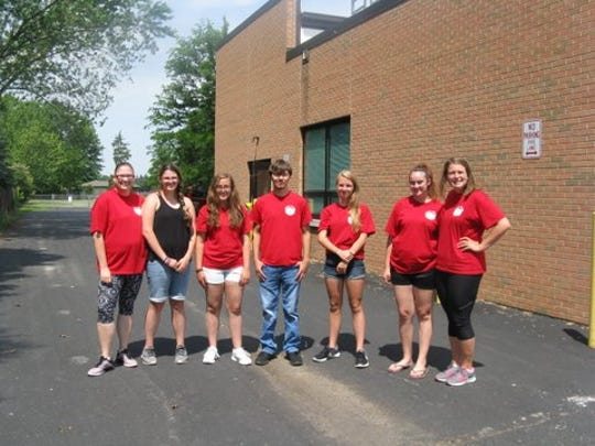 The staff for Clyde-Green Springs Safety Village includes Allison Carroll, co-director;  teen helpers  Bre Deritech, Micaela Slagle, Cole Balsizer, Lilly Hemmer, Olivia Strausbaugh and Kayla Peman,  co- director.
