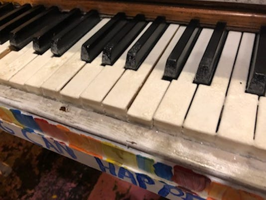 Piano vandalized in Royal Oak
