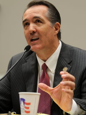 U.S. Rep. Trent Franks testifies during a hearing before the Energy and Power Subcommittee of the House Energy and Commerce Committee in 2011.