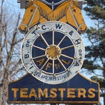 The sign in front of the Teamsters union hall.