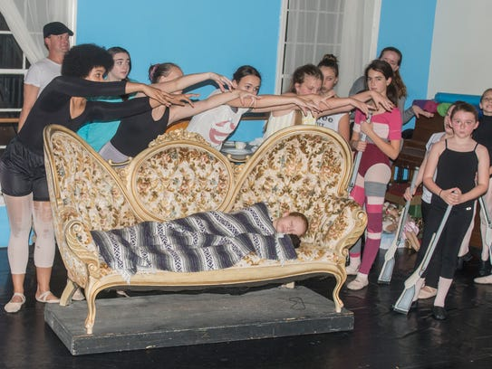 Rehearsal scenes with the children in Montgomery Ballet's