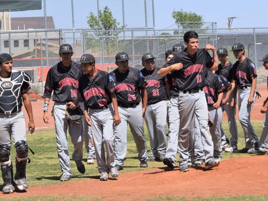 The Hanks Knights regroup Saturday after dropping the second game of a Class 5A bidistrict series against El Paso High, 9-8. Hanks won Game 3 3-1 to advance to the next round of the playoffs.