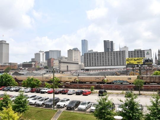 A 1.4-acre lawn will be constructed along the railroad, facing the massive Nashville Yards mixed-use development.