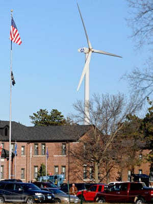The wind turbine meant to power the St. Cloud VA Health Care System.