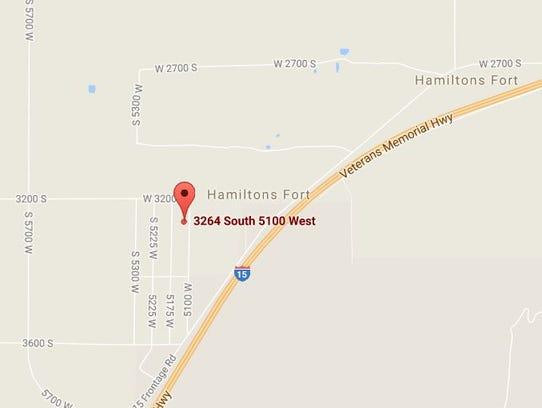 A wildland fire destoryed a double-wide trailer near