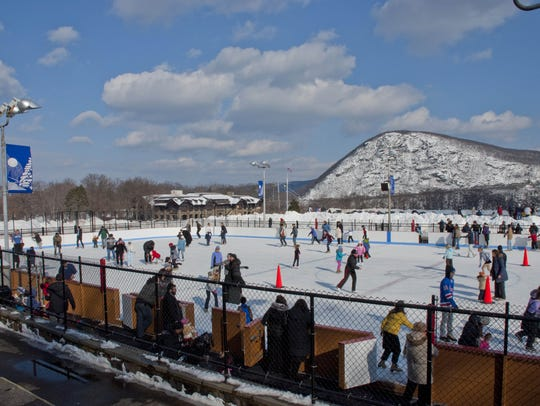 The Bear Mountain Ice Rink is among several skating