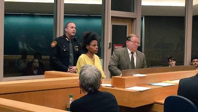 De'asia Watkins appears before a judge Friday morning. She is accused of beheading her 3-month-old daughter.