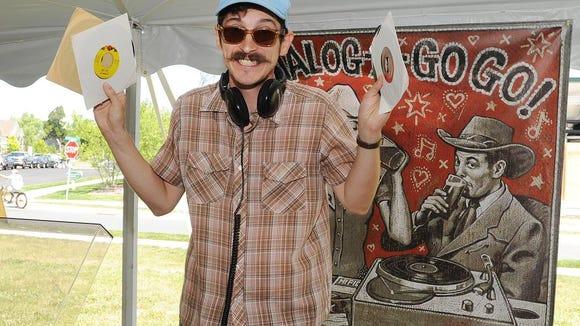 Austin's DJ John Gross  at Dogfish Head's Analog A-Go-Go in Milton last year.