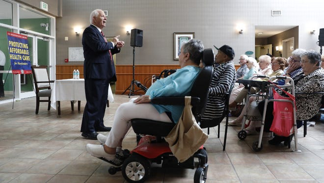 Sen. Ben Cardin, D-Md., holds health care town meeting, Owings Mills, Md., July 7, 2017.