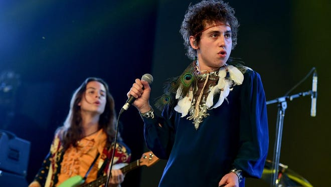 Josh Kiszka of Greta Van Fleet performs onstage during the 2018 Coachella Valley Music And Arts Festival at the Empire Polo Field on April 20 in Indio, California. The Michigan band received praise from Guns N' Roses guitarist Slash.