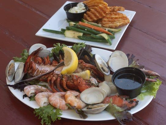 A seafood entree at Klein's Fish Market, Waterside