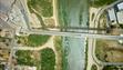 A bridge over the Rio Grande links Roma, Texas, (left)