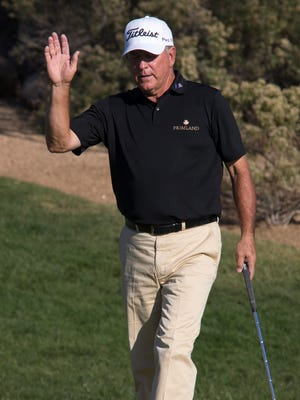 Jay Haas takes a four-shot lead into the weekend.