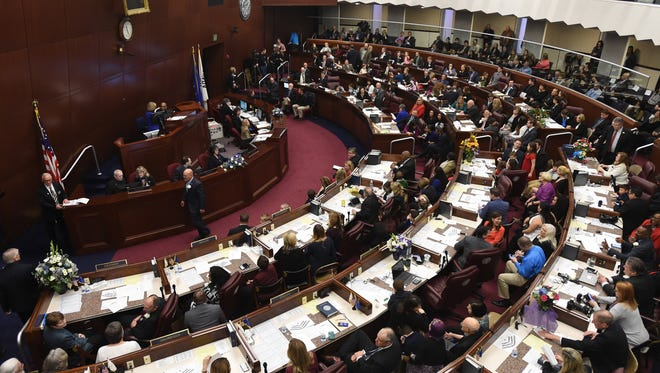 The Nevada State Assembly opens the 79th Session of the Nevada Legislature on Monday Feb. 6, 2017.
