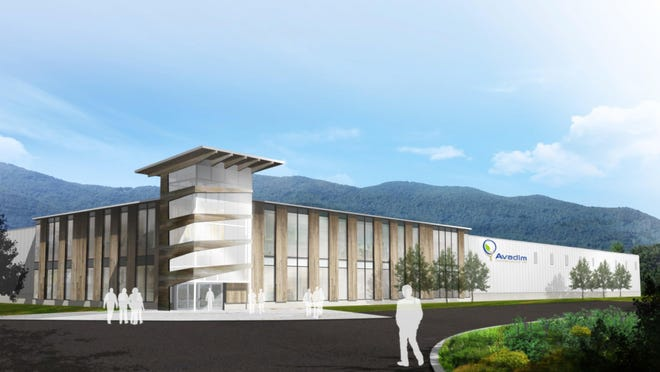Here's an artist's rendering of the planned Avadim Technologies headquarters in Black Mountain.