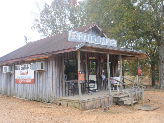 The Hall of Fame Restaurant is located on US 49 North,