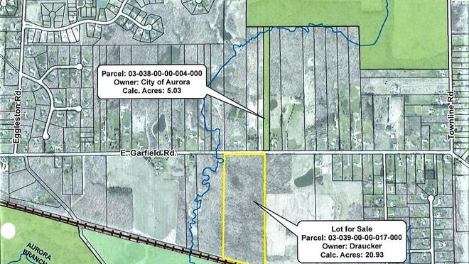 About 21 acres off E. Garfield Road would connect city owned parkland. The city's purchase would cost about $185,000.