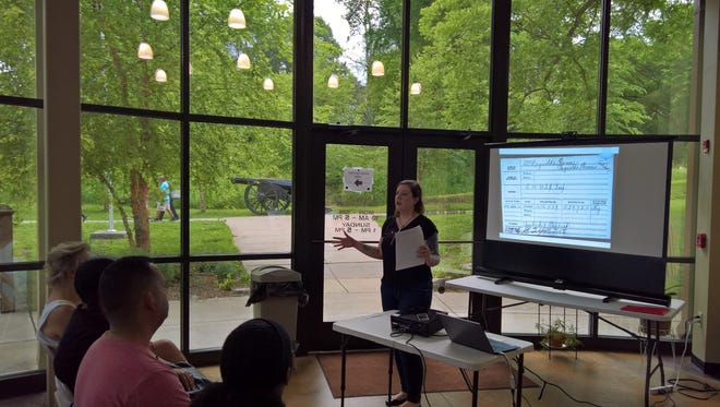 Members of the Austin Peay State University History Club recently had the opportunity to present new research related to Fort Defiance.