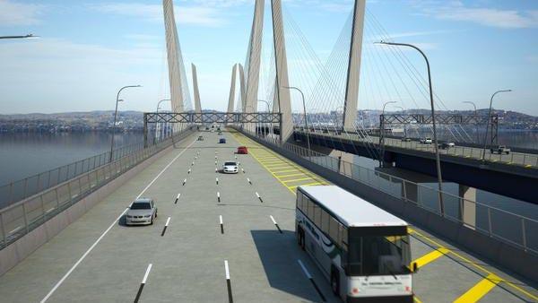 Rendering of the new Tappan Zee Bridge.