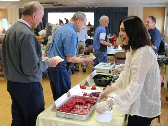 Hundreds enjoyed free meals from the Port Clinton Area