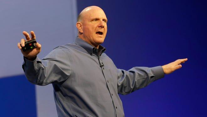 Microsoft CEO Steve Ballmer speaks at a Microsoft event in San Francisco on June 26, 2013.