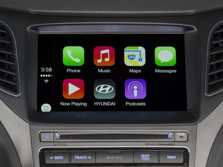 Apple's CarPlay allows for seamless integration between  many top iPhone features and an automobile's infotainment system. The system could be at the heart of alleged secret Apple meetings, which others speculate could be about the Cupertino company