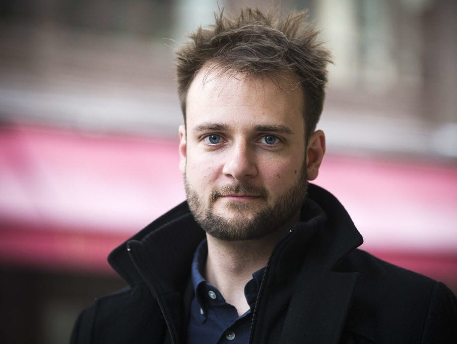 Evan Sharp, U.S. co-founder of Web and mobile application Pinterest, was in Paris on Feb. 25.