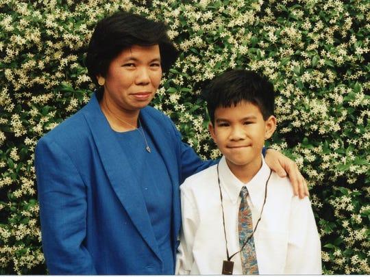 Paul Kieu and his mother, Nga Kieu