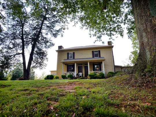 The historic 1801 tobacco plantation home owned by Gayle Jackson sits on a hill above 22 acres in Cambobello on Tuesday.
