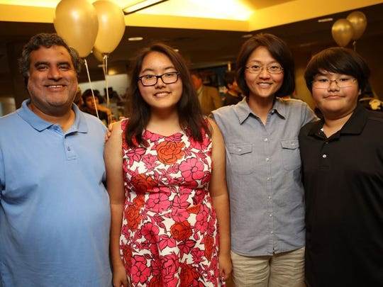Larry, left to right, Hannah, Syd and Abraham Valero.