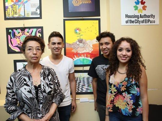 Bertha Alicia Gonzalez, left to right, Isaiah Valdez, Hector Escamilla and Cinthya Escamilla.