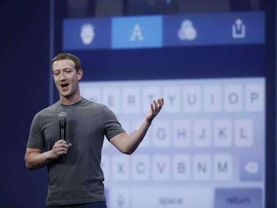 In this March 25, 2015, file photo, Mark Zuckerberg