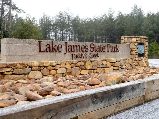 The Paddy's Creek Area of Lake James State Park.