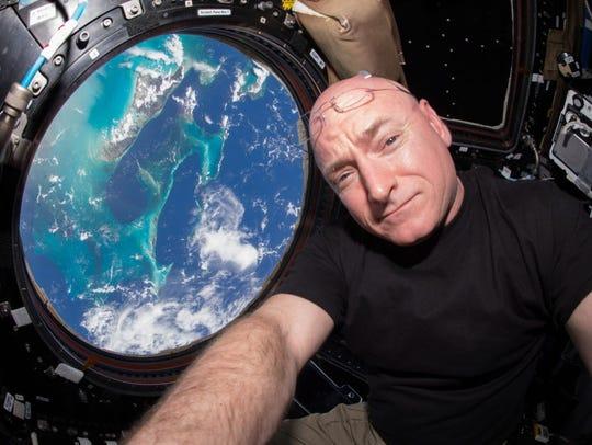 Is Scott Kelly experiencing zero gravity aboard the