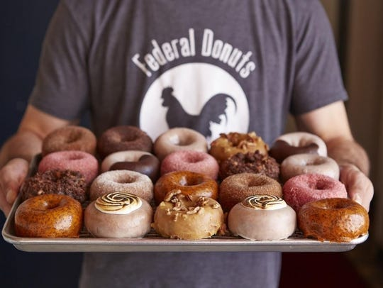 An assortment of doughnuts from popular Federal Donuts