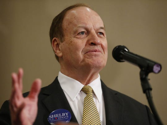 Sen. Richard Shelby, R-Ala. speaks at his election