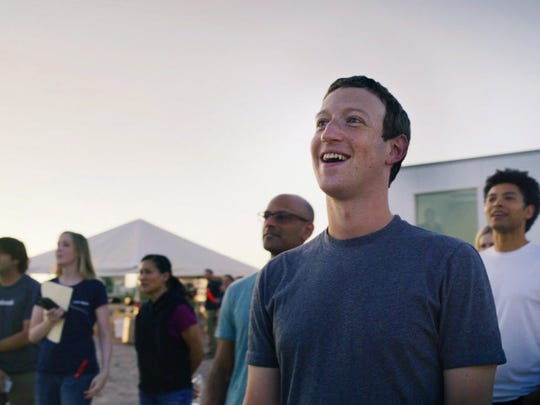 Facebook CEO Mark Zuckerberg at the test flight of