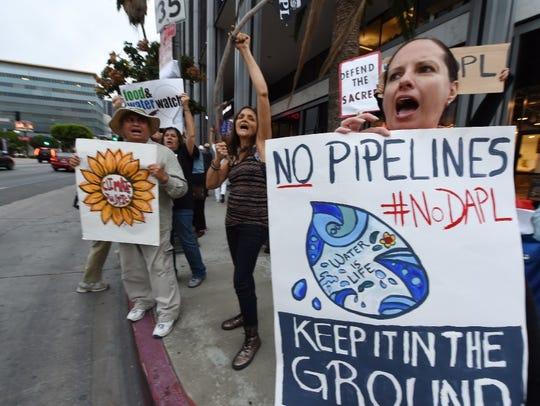 Environmental and Native American rights activists