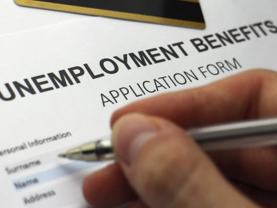 An unemployment benefits application form.