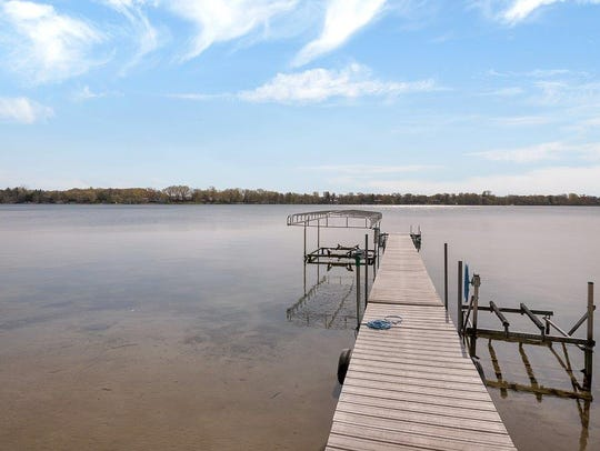 The property has about 165 feet of lake frontage.