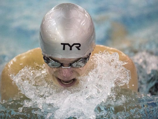 Bergen Catholic's Tommy Scrivanich swims in the 200-yard
